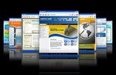 Web 技術インターネットのウェブサイト反射 — ストック写真