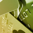 Royalty-Free Stock Photo: Green Credit Cards