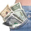 Money In The Pocket - Stock Photo