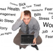 Royalty-Free Stock Photo: Stressed Out Laptop Man