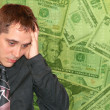 Man With Money Worries - Stock Photo