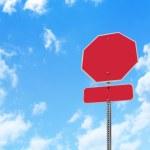 Blank Stop Sign Warning — Stock Photo