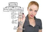 Business Woman Writing Plan — Stock Photo