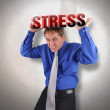 Stress Man Under Pressure - Stock Photo
