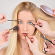 Makeup Woman getting Makeover — Stock Photo