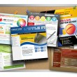 Internet Website Design Bulletin Boards — Stockfoto