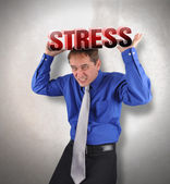 Stress Man Under Pressure — Stock Photo