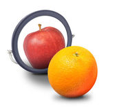 Orange Wish Identity to be Apple — Stock Photo