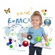 Young Math Science Girl Genius Writing — Stock Photo #22462977