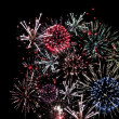 Fireworks Celebration in Black Sky - Stock Photo