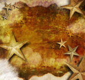 Gold Star Holiday Grunge Background — Stock Photo