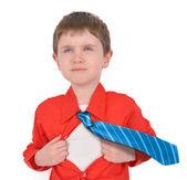 Brave Super Hero Boy Child with Open Shirt — Stock Photo