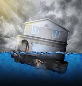 Home Sinking in Water — Stock Photo
