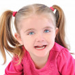 Cute Little Girl on White Isolated Background — Stock Photo