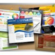 Internet website ontwerp bulletinboard — Stockfoto #35205927