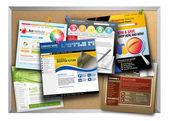 Internet Website Design Bulletin Board — Stock Photo