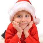 Little Boy Wearing Christmas Santa Hat — Stock Photo #36359397