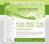 Green Nature Eco Web Template — Stock Vector