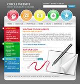 Rainbow umění internetové webové stránky šablona — Stock vektor