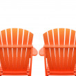 Vacation Beach Chairs on White — Stock Photo