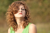 Sexy young beautiful red haired girl — Stock Photo