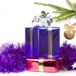 Royalty-Free Stock Photo: Varicolored boxes with christmas gifts