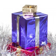 Colored boxes with christmas gifts — Stock Photo #16572427