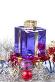 Colored boxes with christmas gifts — Foto Stock