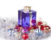 Colored boxes with christmas gifts — Stockfoto