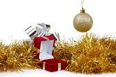 Box pro náušnice jako vánoční dárek — Stock fotografie