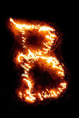 """Fire letter """"B"""". — Stock Photo"""