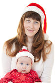 Mother and child celebrate Christmas — Stock Photo