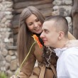 Royalty-Free Stock Photo: Young happy amorous cheerful couple