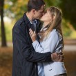Stock Photo: Romantic couple kissing