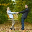Young couple having fun — Stock Photo #18665641