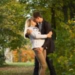 Romantic couple kissing — Stock Photo