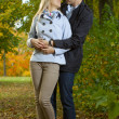 Romantic couple hugging — Stock Photo