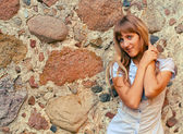 Beautiful tanned girl — Stock Photo