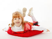 Young girl in costume of fairy — Stock Photo