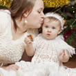Happy little baby with her mother — Stock Photo