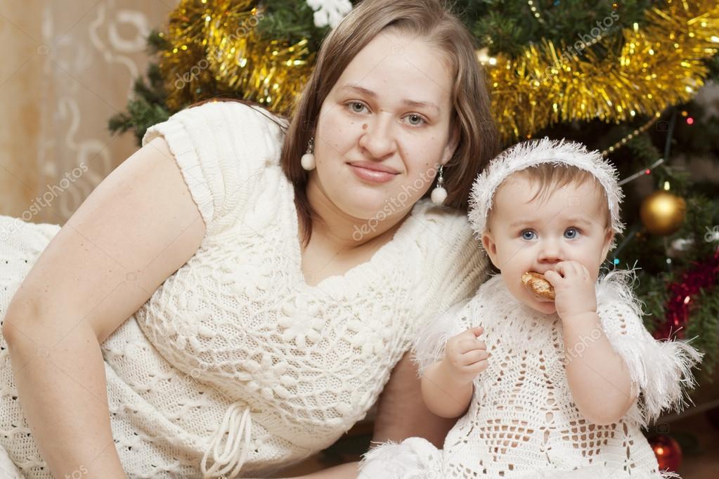 与她的母亲快乐小宝宝