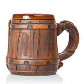 Old clay beer mug — Stock Photo