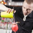 Bartender is making cocktail — Stock Photo