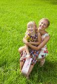 štěstí - matka s dítětem — Stock fotografie