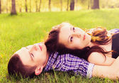 Young happy couple resting — Stock Photo
