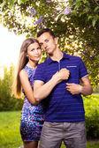 Красивая влюбленная пара — Стоковое фото