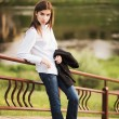 Beautiful young fashionable girl — Stock Photo