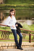 Beautiful young fashionable girl — Stockfoto