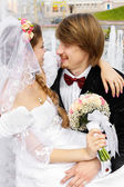 Bride and groom — Foto Stock