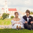 Newly-married couple — Stockfoto